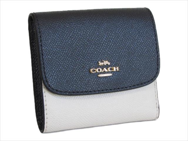 【スペシャル】[コーチ] 3つ折り 財布 カラーブロック スモール COACH Colorblock Small Leather Wallet F26458 IMDVF IM/Midnight/Chalk