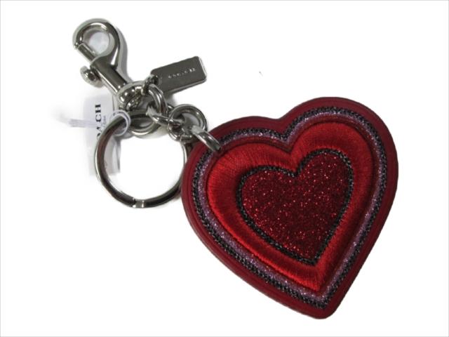 【スペシャル】[コーチ] キーホルダー ハート 刺繍 キー フォブ COACH HEART KEY FOB F26896 SVDN8