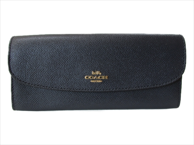 【スペシャル】[コーチ] 長財布 クロスグレイン COACH Crossgrain Leather Soft Wallet F59949 IMMID IM/Midnight