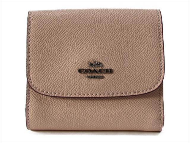 【スペシャル】[コーチ] 3つ折り 財布 クロスグレイン スモール COACH Crossgrain Leather Small Wallet F87588 SV/LP SV/Light Pink