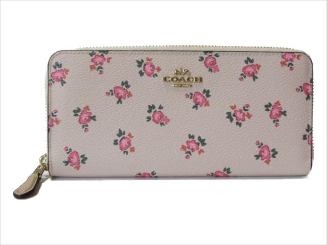 【スペシャル】[コーチ] 長財布 フローラル ブルーム COACH Floral Bloom Small Accordion Zip 28440 LINEP LI/Beachwood Floral Bloom