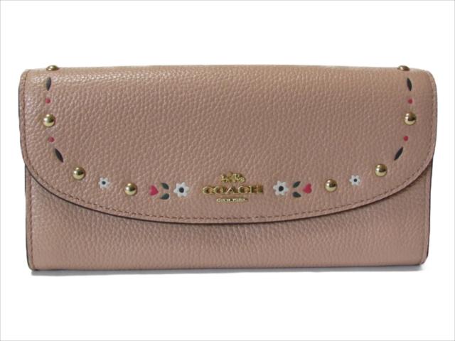 【スペシャル】[コーチ] 長財布 ツールド スリム エンベロップ COACH Tooled Leather Slim Envelope F26786 IMA55 IM/Nude Pink