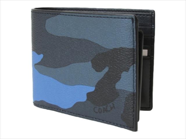 【スペシャル】[コーチ] 2つ折り 財布 カモ コンパクト COACH 3 In 1 Camo Compact ID Wallet F32438 MRX Dusk Multi