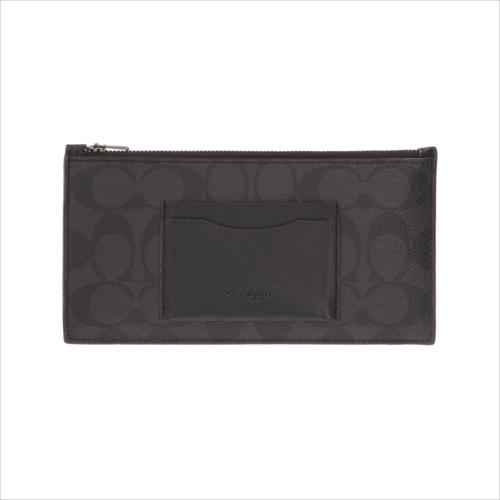 【スペシャル】[コーチ] 長財布 携帯ケース COACH Zip Phone Shadow Signature F41383 N3A Black/Blck/Oxblood