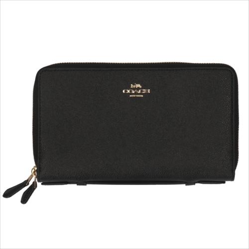 【スペシャル】[コーチ] 超大型財布 ダブルジップ トラベル COACH Crossgrain Double Zip Travel Wallet F23334 IMBLK IM/Black