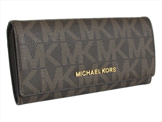 【スペシャル】マイケルコース 長財布 ジェットセット MICHAEL Michael Kors JET SET TRAVEL CARRYALL LEATHER brn/luggage 35H6GYAE7B