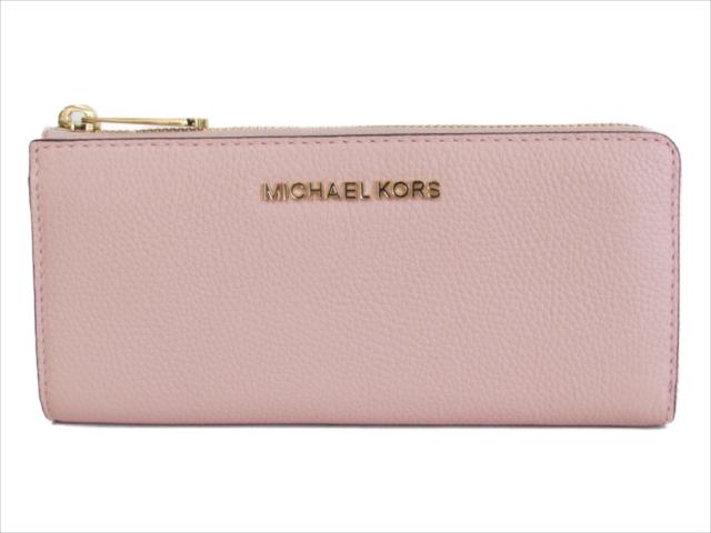 【スペシャル】[マイケルコース] 長財布 ジェット セット Michael Kors JET SET TRAVEL LG THREE QTR ZIP LEATHER pastel pink 35F8GTVZ3L [並行輸入品]