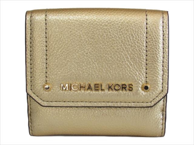 【スペシャル】[マイケルコース] 折りたたみ財布 ヘイズ MICHAEL Michael Kors HAYES MD TRIFOLD COIN CASE gold 35F8GYEF2M [並行輸入品]