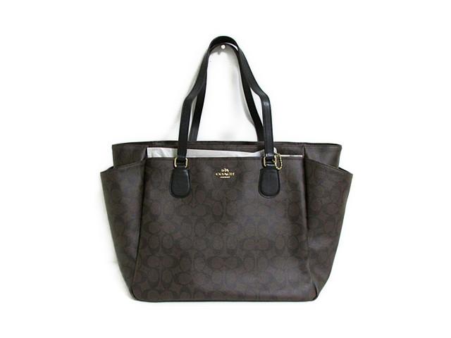 【スペシャル】Coach コーチ マザーズバッグ シグネチャー ベビー バッグ 35414 ブラウン/ブラック【新品】COACH バック Signature Baby Bag (Style F35414 IMAA8) IM/Brown/Black