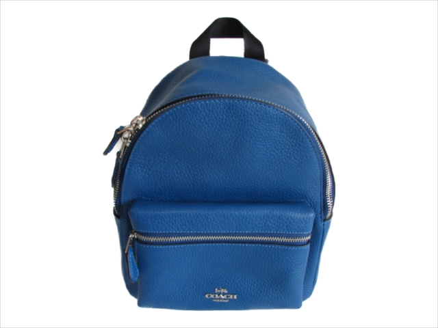 【スペシャル】[コーチ] ミニ チャーリー バックパック COACH Pebble Leather MINI Charlie Backpack F28995 SV/A7 SV/Atlantic