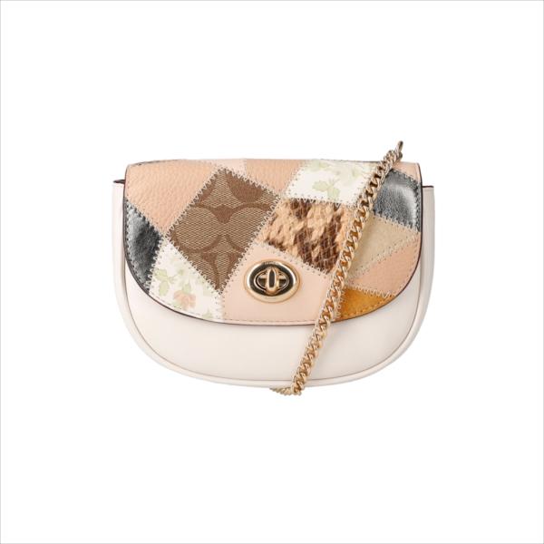 【スペシャル】[コーチ] ショルダーポーチ COACH MIXED MATERIAL PATCHWORK Mini Belt Bag 89962 IMCAH IM/Chalk Multi