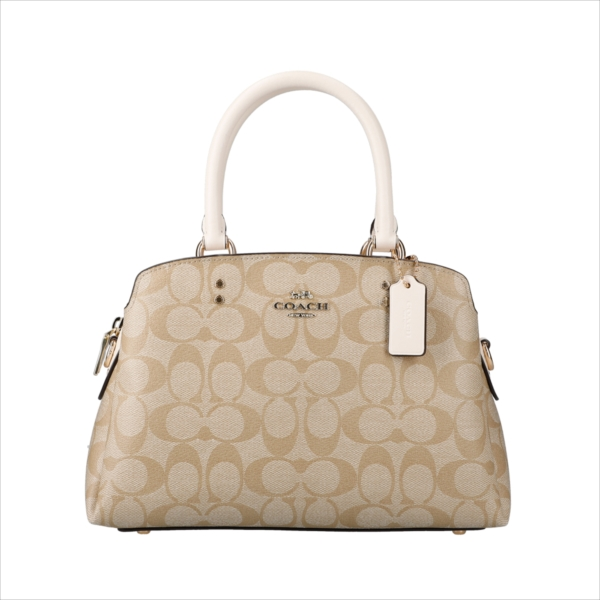 【スペシャル】[コーチ] バッグ ミニ リリー COACH Signature Mini Lillie Carryall 91494 IMDQC IM/Light Khaki/Chalk