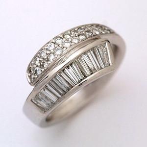 K18WG ダイヤモンド 0.868ct リング