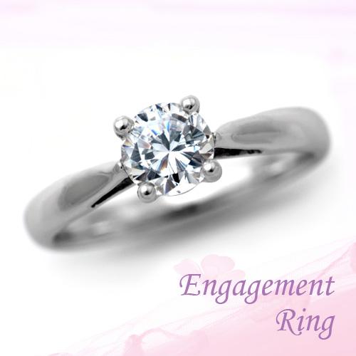 婚約指輪 プラチナ ダイヤモンドエンゲージリング 0.62ct Dカラー SI2 トリプルエクセレントカット GIA鑑定