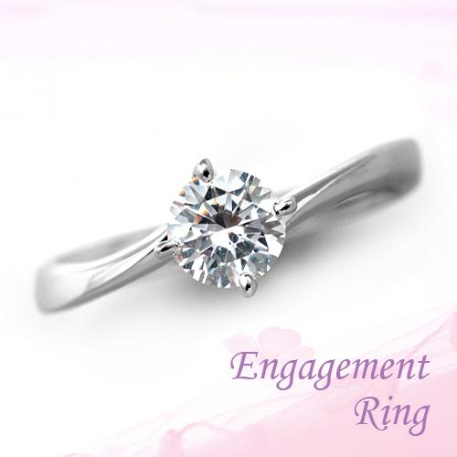 婚約指輪 プラチナ ダイヤモンドエンゲージリング 0.61ct Dカラー SI2 トリプルエクセレントカット GIA鑑定