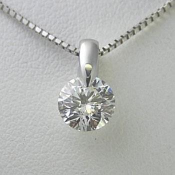 プラチナ一粒ダイヤモンドネックレス 0.42ct Dカラー SI1 トリプルエクセレントカット GIA鑑定書付き