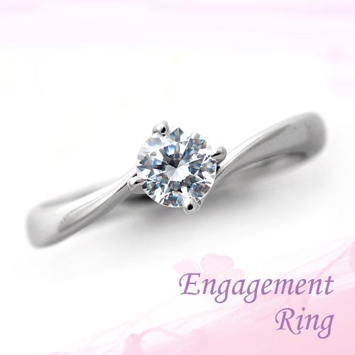 婚約指輪 プラチナ ダイヤモンドエンゲージリング 0.37ct Dカラー SI1 トリプルエクセレントカット GIA鑑定