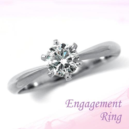 婚約指輪 プラチナ ダイヤモンドエンゲージリング 0.61ct Dカラー SI1 トリプルエクセレントカット GIA鑑定