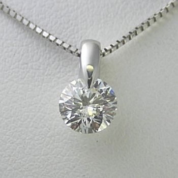 プラチナ一粒ダイヤモンドネックレス 0.45ct Dカラー VS2 トリプルエクセレントカット GIA鑑定書付き
