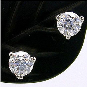 ダイヤモンドスタッドピアス ダイヤモンド プラチナ 0.4ct×2 Dカラー VS1 3EX H&C 鑑定書付