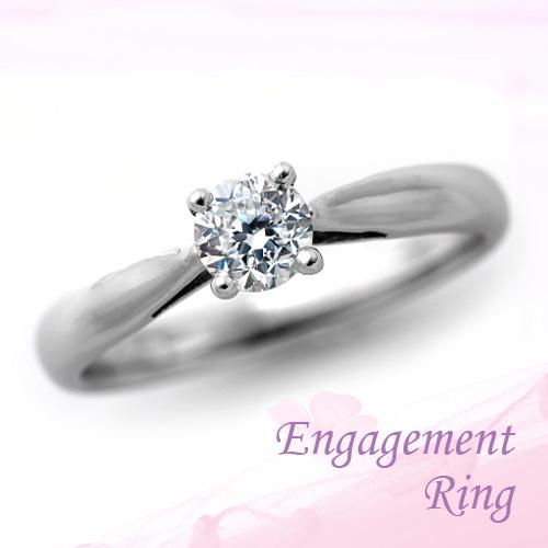 婚約指輪 プラチナ ダイヤモンドエンゲージリング 0.35ct Dカラー VS1 トリプルエクセレントカット GIA鑑定