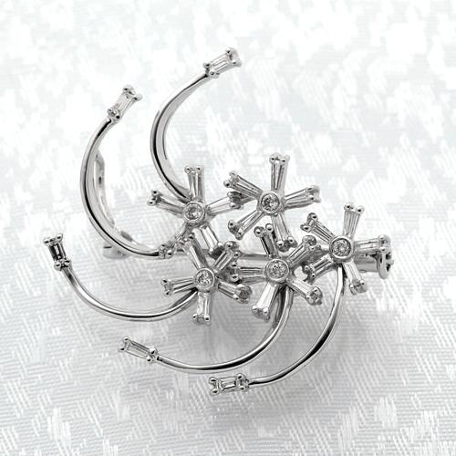 K18WG ダイヤモンド入りブローチ ダイヤモンド 0.70ct