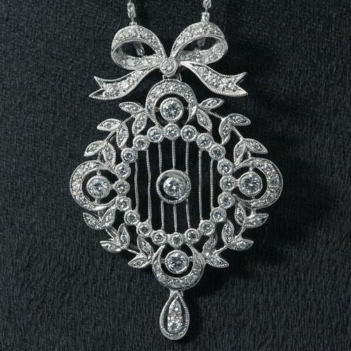 K18WG ダイヤモンド 1.10ct ネックレス イタリー