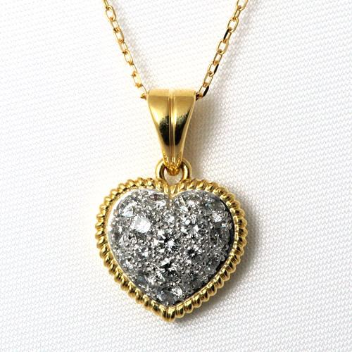Pt/K18 ダイヤモンド 0.80ct ネックレス