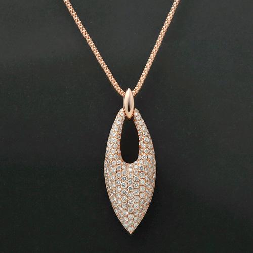 ダイヤモンドネックレス K18PG ダイヤモンド 2.05ct