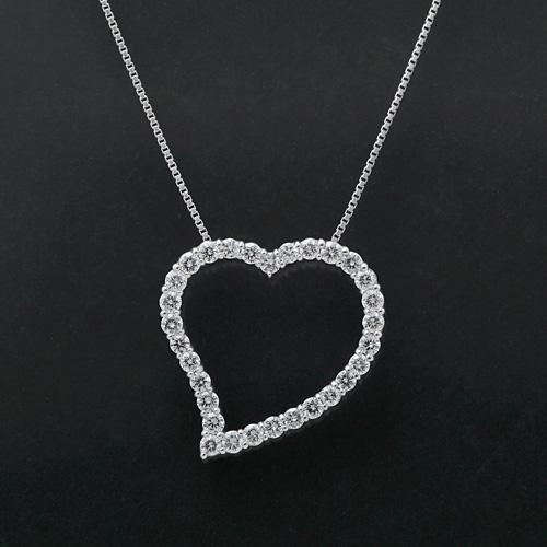 ダイヤモンドネックレス K18WG ダイヤモンド 1.00ct