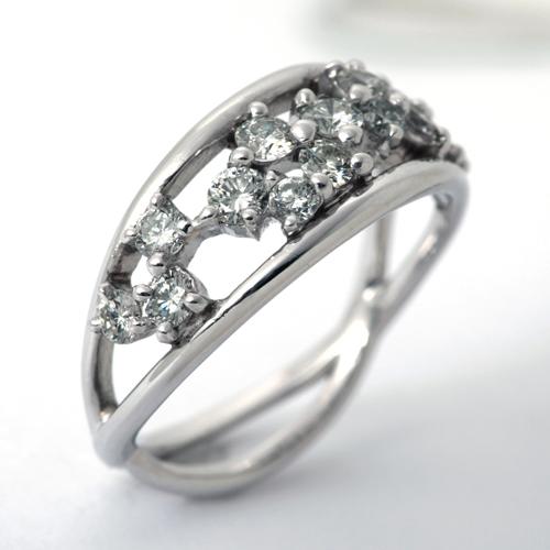 プラチナ ダイヤモンド 0.75ct リング