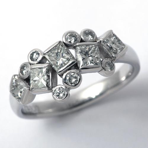 プラチナ ダイヤモンド 1.288ct リング