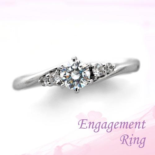 婚約指輪 プラチナ ダイヤモンドエンゲージリング 0.30ctUP Dカラー SI1 トリプルエクセレントカット GIA鑑定
