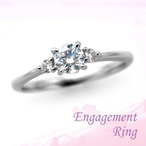 婚約指輪 プラチナ ダイヤモンドエンゲージリング 0.30ctUP Dカラー VVS2 トリプルエクセレントカット GIA鑑定