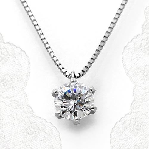 プラチナ一粒ダイヤモンドネックレス 1.00ct Dカラー VVS1 トリプルエクセレントカット GIA鑑定書付き
