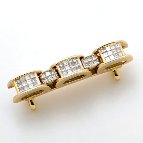 帯留め K18 ダイヤモンド 1.24ct 高級品