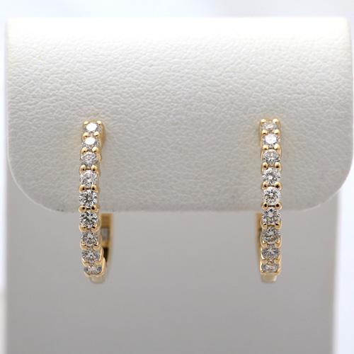 ダイヤモンドイヤリング K18 ダイヤモンド 0.50ct