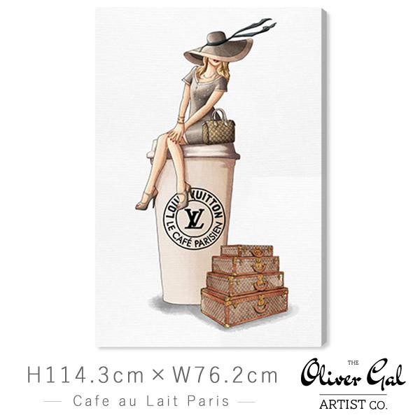 オリバーガル Oliver Gal 絵画 アート インテリア [縦114.3cm×横76.2cm] 壁掛け Cafe au Lait Paris【正規品】【代金引換不可】