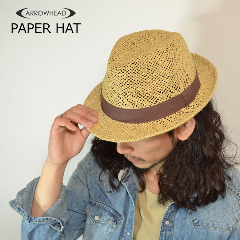 ARROWHEAD arrowhead paper soft felt hat hat like straw hat straw hat adjustable size BIC size (regular and big size golf use) fs2gm