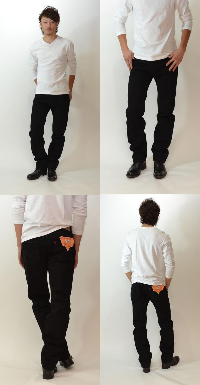 Levi's 501 ORIGINAL Black Magic Black Out [denim jeans jeans pants straight 00501] black magic after dyeing