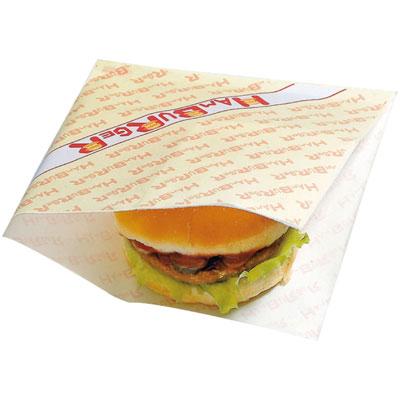 【送料無料】 バーガー袋 #18 ハンバーガー 3000枚 (100枚×30袋)【ケース販売 箱売り】【業務用 ハンバーガー お持ち帰り用 テイクアウト 包装紙】【メーカー直送/代引き不可】