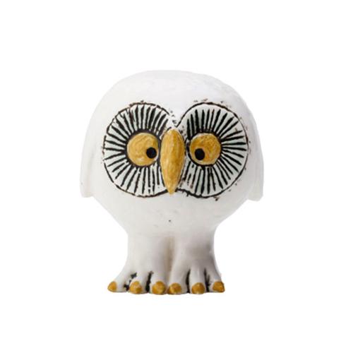【マラソン限定送料無料】リサ・ラーソン スウェーデンの森の白いフクロウ / LISA LARSON white Owl/ 【正規代理店品】【リサラーソン】【スカンセン】【陶器】【置物】【インテリア】【北欧雑貨】【オブジェ】【Lisa Larson】【ふくろう】