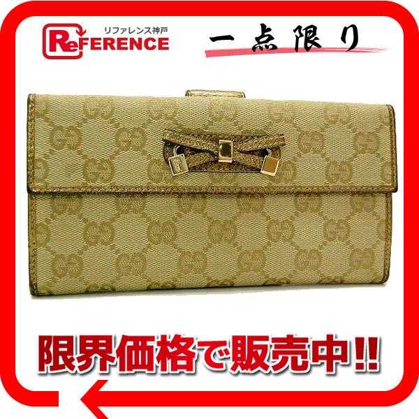 Gucci PRINCY (printhie) GG W hook length wallet gold 167464 fs3gm
