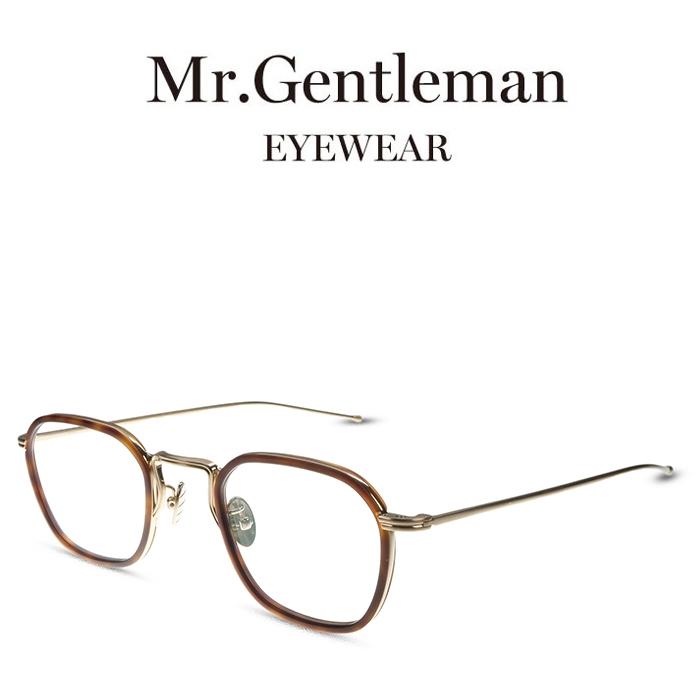 Mr.Gentleman ミスタージェントルマン ANDY J Matte Gold Matte Tortoise メンズ レディース メイドインジャパン 度付きメガネ 伊達メガネ 日本製 本格眼鏡