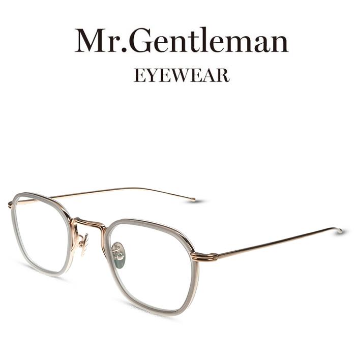 Mr.Gentleman ミスタージェントルマン ANDY K Matte SilverClear Grey to L.Brown メンズ レディース メイドインジャパン 度付きメガネ 伊達メガネ 日本製 本格眼鏡