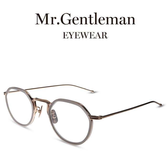 全国宅配無料 Mr.Gentleman ミスタージェントルマン EDWARD2 M Pink Gold & Matte Clear Grey メンズ レディース メイドインジャパン 度付きメガネ 伊達メガネ 日本製 本格眼鏡 (お取り寄せ), アラカワク 0469b4b7