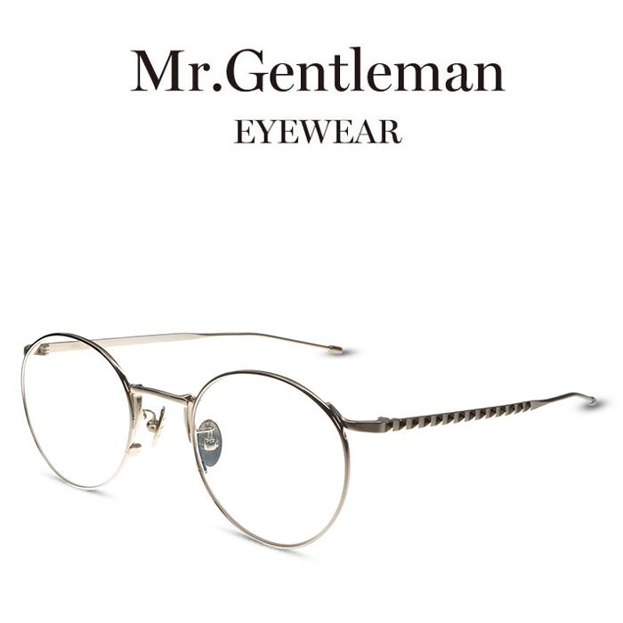 Mr.Gentleman ミスタージェントルマン JOHN A Gold メンズ レディース メイドインジャパン 度付きメガネ 伊達メガネ 日本製 本格眼鏡