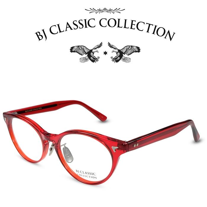 【BJ CLASSIC COLLECTION正規取扱店】 BJ CLASSIC COLLECTION CELLULOID P-502A MP BT C-134 レッド BJクラシックコレクション 度付きメガネ 伊達メガネ メンズ レディース セルロイド 本格眼鏡 (お取り寄せ)