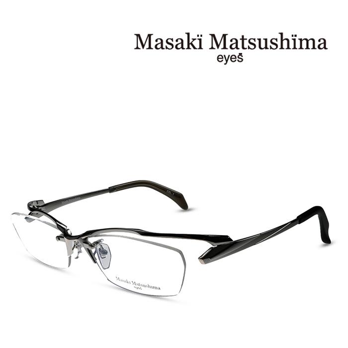 メンズ レディース  ユニセックス 度付きメガネ 伊達メガネ マサキマツシマ Masaki Matsushima メガネ フレーム MF-1232 C-1 シルバー 度付きメガネ 伊達メガネ 日本製 お取り寄せ