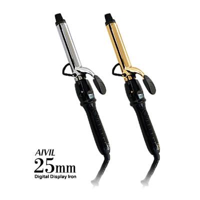 アイビル D2アイロン 25mm【チタン ゴールド 軽い デジタル 液晶ディスプレイ 業務用】